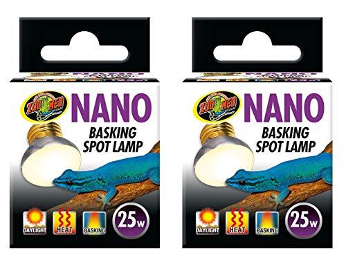 (2 Pack) Zoo Med Labs 25W Nano Basking Spot Lamp