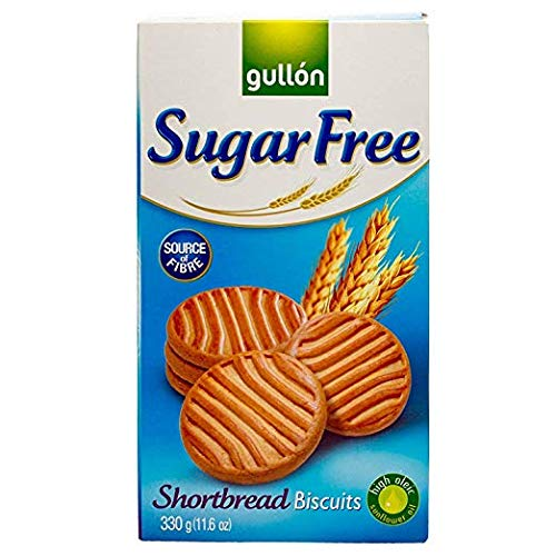 Gullon Cookie SF Shortbread Cookies, 11.63 Ounce, 330 Gram (2 Pack) by Gullon