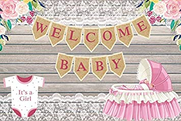 Amazon Com Baocicco 8x6 5ft Vinyl Baby Shower Backdrop Blooming Flower Photography Background Wooden Wall Girl Baby Room Indoor Decors Wallpaper New Born Baby Welcome Party Photo Studio Camera Photo
