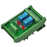 Electronics-Salon DIN Rail Mount 2 DPDT Signal Relay Interface Module, DC 24V Version.