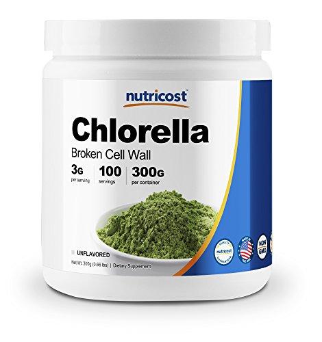 Nutricost Chlorella Powder 300 Grams - Pure Chlorella - 3000mg Per Serving; 100 Servings - High Quality