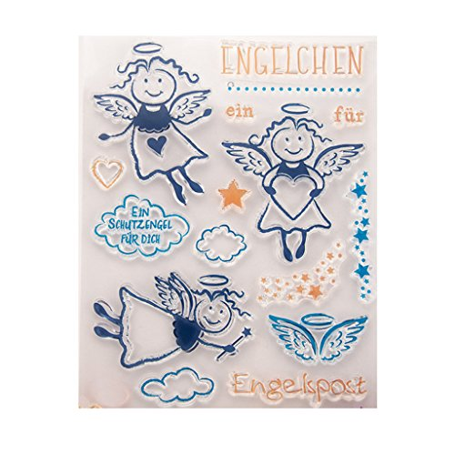 Angel Clear Silicone Rubber Seal Stamp DIY Album Scrapbooking Photo Card Decor ()