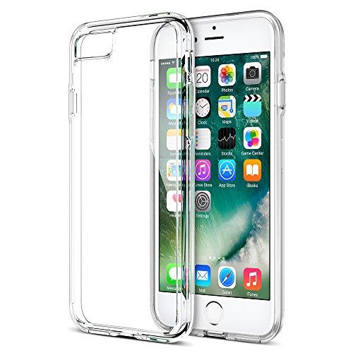 iPhone 7 Case, Trianium [Clarium Series] Premium Shock Absorption TPU Bumper Cushion + Scratch Resistant Clear Protective Cases Hard Cover for Apple iPhone 7 2016 - Clear (TM000019)
