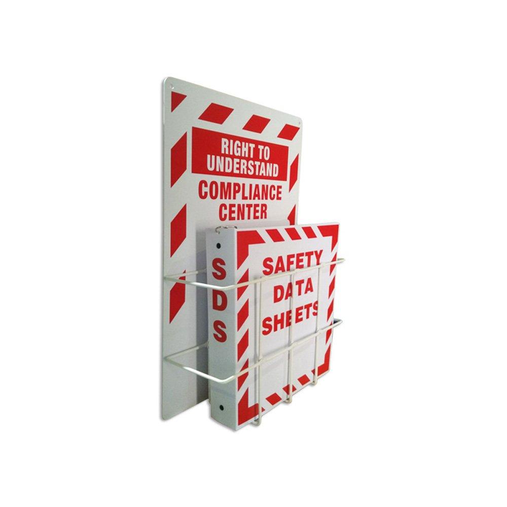SAFERUN MSDS Right to Understand Center, Binder Steel Racks 3mm Thick Polystyrene Board with Coated Wire Basket. by SAFERUN
