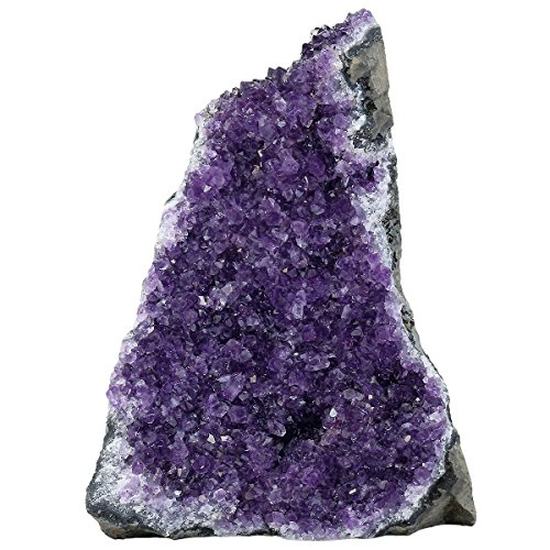 - rockcloud Natural Purple Amethyst Quartz Crystal Cluster Geode Druzy Home Decoration Gemstone Specimen 800-1000 Grams