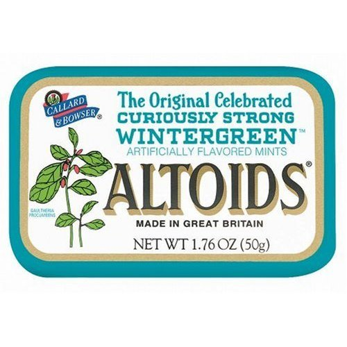 Altoids Curiously Strong Mints - Wintergreen 1.76 oz (Pack of - Altoids Candy Mint