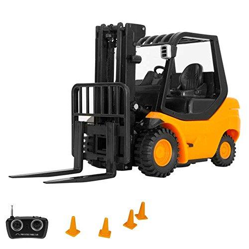 RC ferngesteuerter Gabelstapler mini Stapler-Modellbau Forklift, Maßstab 1:20, Komplett-Set inkl. Fernsteuerung und Zubehör