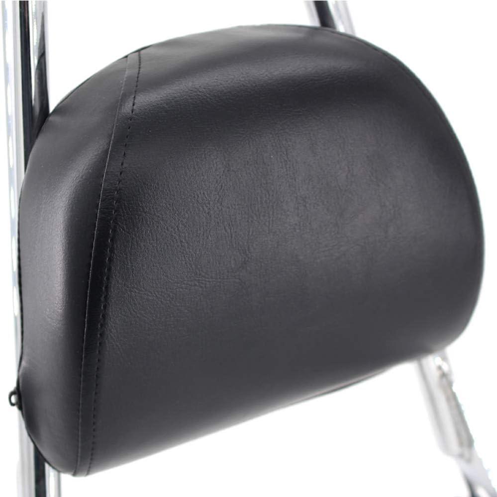 negro GUAIMI Sissy Bar Respaldo trasero Almohadilla desmontable Negro Para Harley Sportster 883 1200 XL 883C 883R