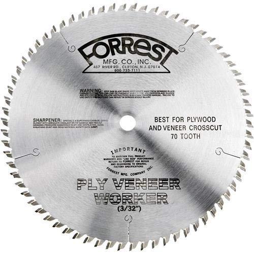 Disco Sierra FORREST PVW07Q707100 Chapa de madera 7 1/4 x 3/8