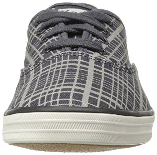 Keds Womens Champion Hanky Plaid Fashion Sneaker Drizzle Grigio Twill
