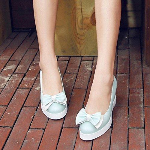 Vulusvalas Bleu Femmes Compensées Comodoable Chaussures RAPwHqRT
