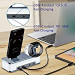 Wireless Charging Dock, VMEI 7 in 1 Aluminum Wireless Charging Station for iPhone/iWatch/Airpods Pro Charging Cradle…