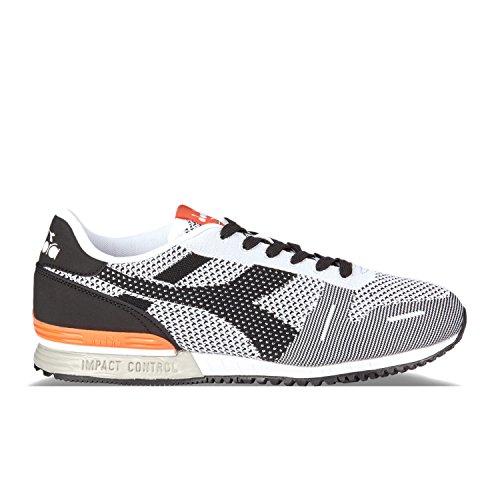 C4787 Schwarz Unisex Hals Sneaker weiss orange Diadora Titan Low Weave Erwachsene fd80wCq
