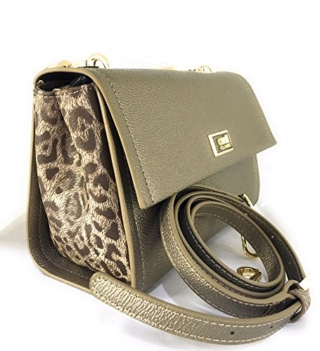 CAVALLI BORSA A MANO SMALL SHOULDER BAG LEOGRAM (PLATINUM)
