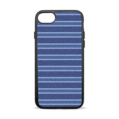 - Blue Mosaic Stripe Denim Pattern iPhone 8/8 Plus case, iPhone 7/7 Plus Case, Slim-Fit Matte TPU Clear Bumper Flexible Rubber Silicone Rugged Thin Protective Phone Case Cover