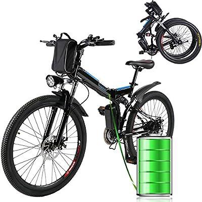 Bicicleta Eléctrica Plegable 250W Unisex Adulto Bicicleta ...