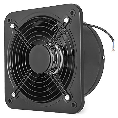 Mophorn Industrial Ventilation Extractor Metal Axial Exhaust Commercial 12 inch Air Blower Fan 250MM Opening Exhaust Fan 2800 RPM Low Noise Stable Running