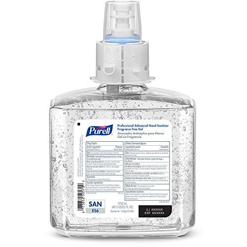 PURELL ES6 Professional Advanced Hand Sanitizer Gel Refill, Fragrance Free, 1200 mL Sanitizer Refill for PURELL ES6 Touch-Free Dispenser (Pack of 2) -  6460-02 by Purell (Image #1)