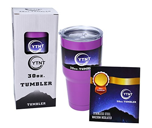 YTNT 30 oz. Tumbler Double Wall Vacuum Insulated Bottle Stainless Stell Tumbler Coffee Cup -(24 Hour Ice Retention)