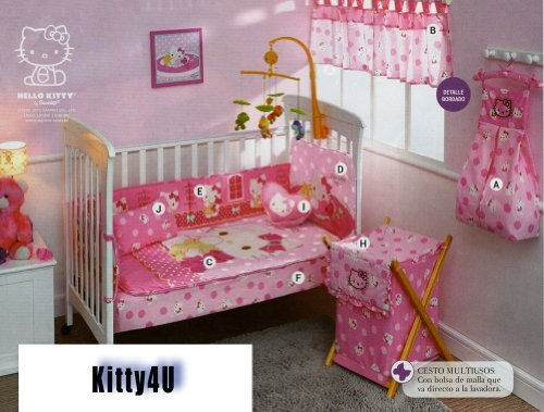 Hello Kitty Crib Bedding Set (Kitty4U Hello Kitty Crib Bedding Set / Small by Kitty4u)