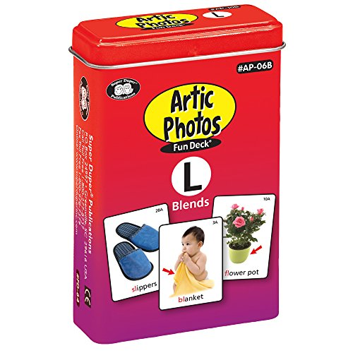 Articulation Photos L Blends Fun Deck Flash Cards - Revised with NEW Color Photos - Super Duper Educational Learning Toy for Kids