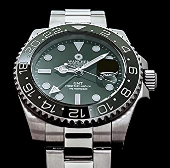 Wancher Japan Extreme Sapphire Crystal Green Dial Automatic Self