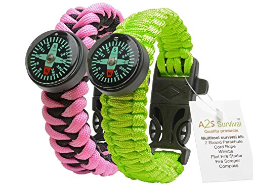 Paracord Bracelet Survival Gear Kit made our list of Gifts For Active Women, Gifts For Women Who Hike, Gifts For Women Who Fish, Gifts For Women Who Camp