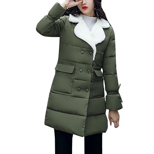 Zhhyltt Caliente para el invierno Fashion Big Collar Thickening Thin Long Paragraph Down Coats Jacke...