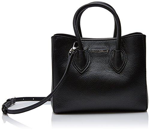 COCCINELLE Farisa, Bolsos totes Mujer, Negro (Noir), 17x17x20 cm (B x H T)