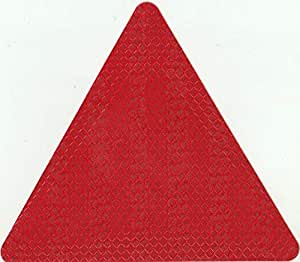 red triangle sticker for pick up and truck safty 14cmx14cm