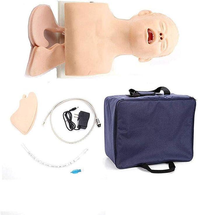 OPNG Electrónico Intubacion traqueal Formación Simulador Modelo Gestión de la vía aérea Entrenador Enfermera Enfermera Entrenador de gestión de la vía aérea Maniquí de intubación: Amazon.es: Deportes y aire libre