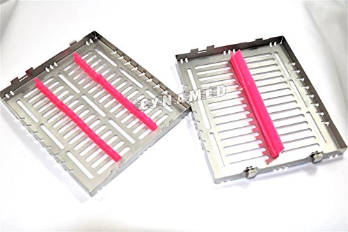 5 GERMAN DENTAL AUTOCLAVE STERILIZATION CASSETTE TRAY FOR 15 INSTRUMENTS 8.25X7.25X1.25'' PINK ( CYNAMED ) by CYNAMED (Image #5)