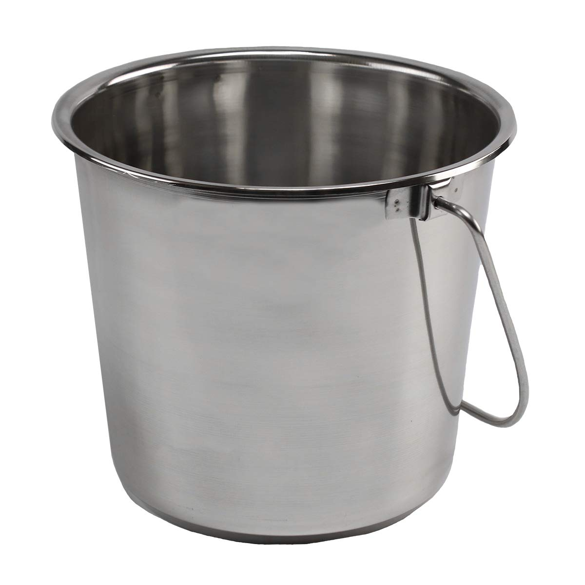 Stainless Steel Buckets for Pets, Cleaning, Food Prep (4 Gallon)