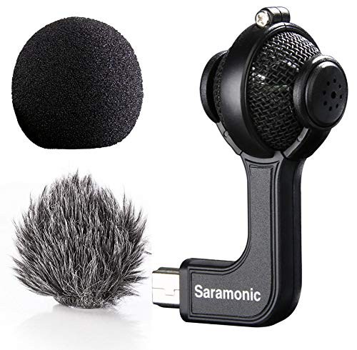 Saramonic G-Mic Stereo Ball Microphone with Foam & Furry...
