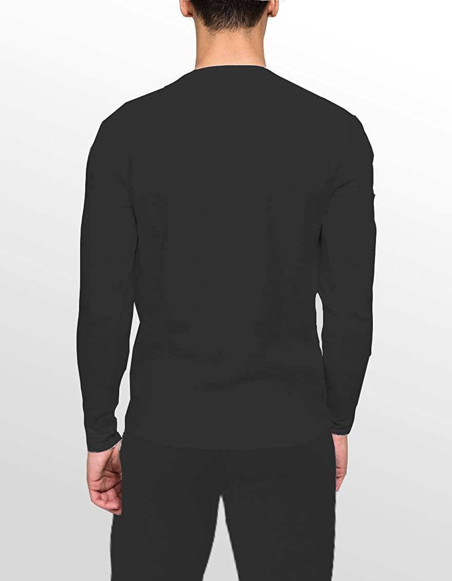 Les Hot Stuff Co Men/'s Thermal T-shirt Long John/'s Gris Blanc Tailles S à XXL