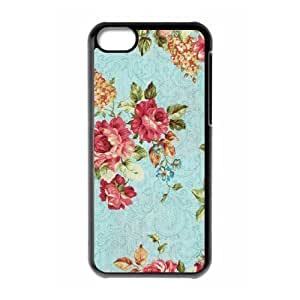 Retro Floral Series Brand New Cover Case for iphone 5c,diy case cover ygtg598634