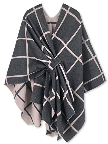 Plus Size Cape (Women Poncho Shawl Cardigan Open Front Elegant Cape)