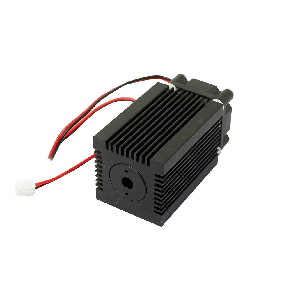 Q-BAIHE Laser Module Housing 33x33x50mm for 9.0mm To-5 Ld with 405nm-480nm Violet/blue Coated Glass Lens & Fans