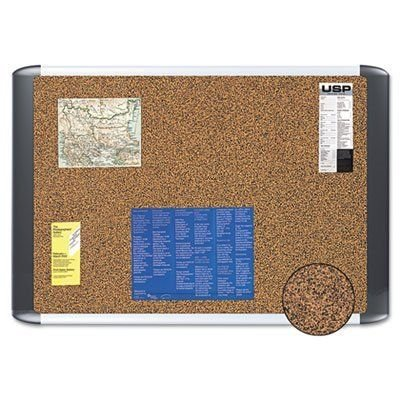 MasterVision Tech Cork Board - MasterVision Tech Cork Board, 24x36, Silver/Black Frame