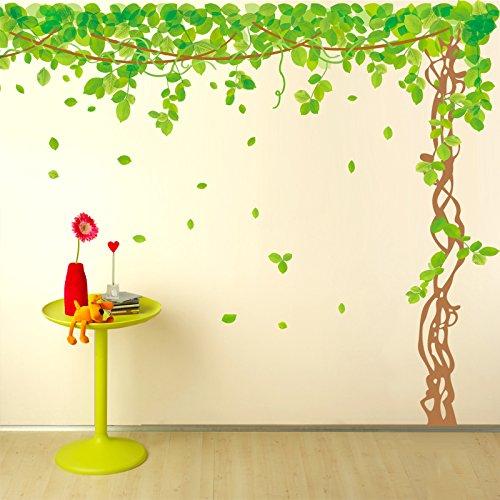 SWORNA Nature Series SN040 Lovely Large Green Tree Removable Vinyl DIY Wall  Art Decor Decal Mural Sticker Kids Baby Nursery Living/Sitting Room  Playroom ...