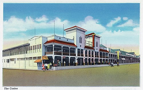 - Hampton Beach, New Hampshire - Exterior View of the Casino (24x36 Giclee Gallery Print, Wall Decor Travel Poster)