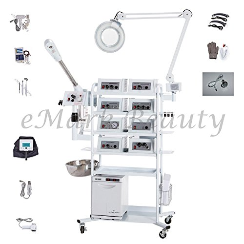 eMark Beauty 18 in 1 T4DW Multifunction Facial Machine Ozone Aromatherapy Steamer Microdermabrasion. ON ALL WARRANTY WORK by eMark Beauty