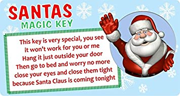 Christmas santa claus magic key sticker label business xmas fun christmas santa claus magic key sticker label business xmas fun gift m4hsunfo Images