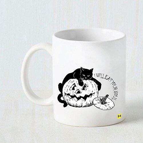 Hamee - Soul Eater Cat - Halloween Theme White Coffee (Soul Eater Halloween Theme)