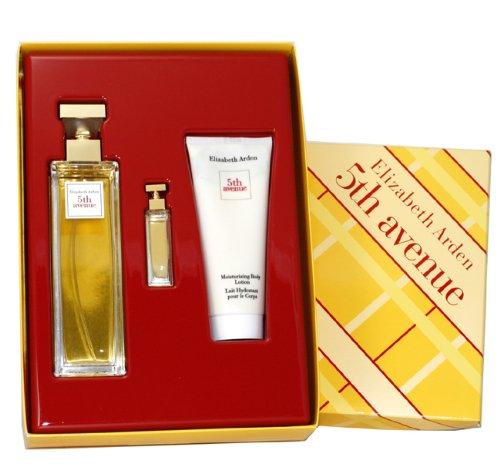 5th Avenue By Elizabeth Arden For Women. Gift Set (eau De Parfum Spray 4.25 Oz+ Parfum 3.7 Ml + Body Lotion 3.3 Oz) 99 Perfumes CA Dropship FI23