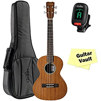Cordoba 20TM Tenor Ukulele guitarVault Package with Cordoba Deluxe Gig Bag and Tuner