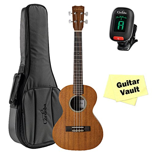 Cordoba 20TM Tenor Ukulele guitarVault Package with Cordoba Deluxe Gig Bag and Tuner by Cordoba