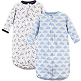 Hudson Baby Unisex Baby Cotton Long-Sleeve Wearable Sleeping Bag, Sack, Blanket, Paper Airplane, 0-3 Months
