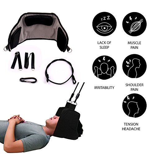 Hammock for Neck by ENXICO - Portable Neck Stretcher Cervical Traction Device | Rapidly Neck Pain Relief | Perfect for Your Stiff Neck and Shoulders + 3D Eye MASK Gift by ENXICO (Image #4)