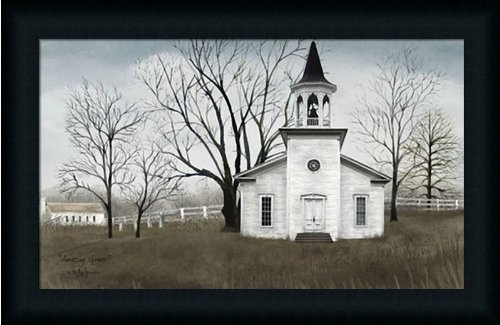 amazoncom amazing grace by billy jacobs primitive folk art country church 23x15 in framed art print picture posters prints